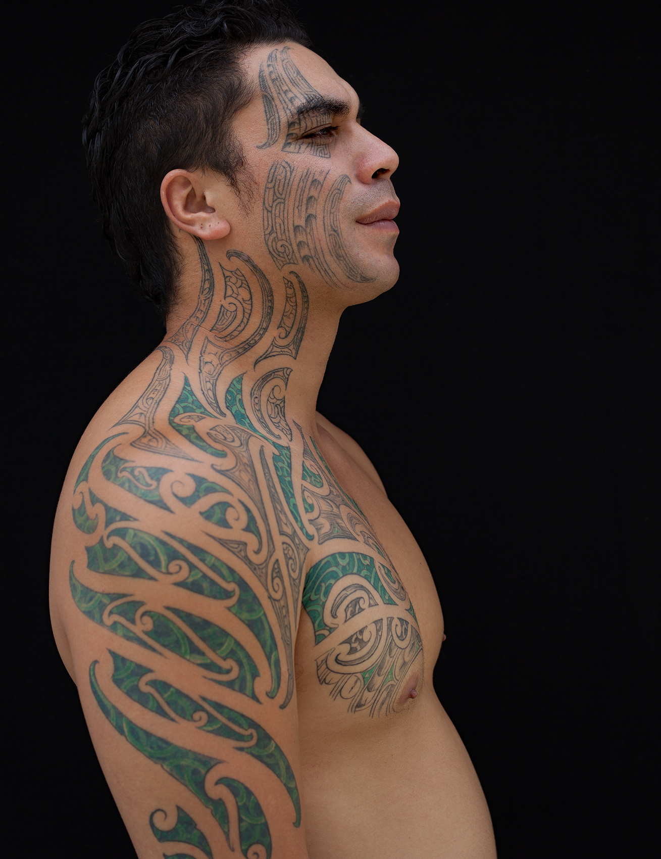 Axel Bernstorff creative portraiture tattoos fingers ink identity stag expressionism identity tribe muscle individuality